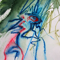 Watercolor Creature Rising 2 by Lori Sokoluk