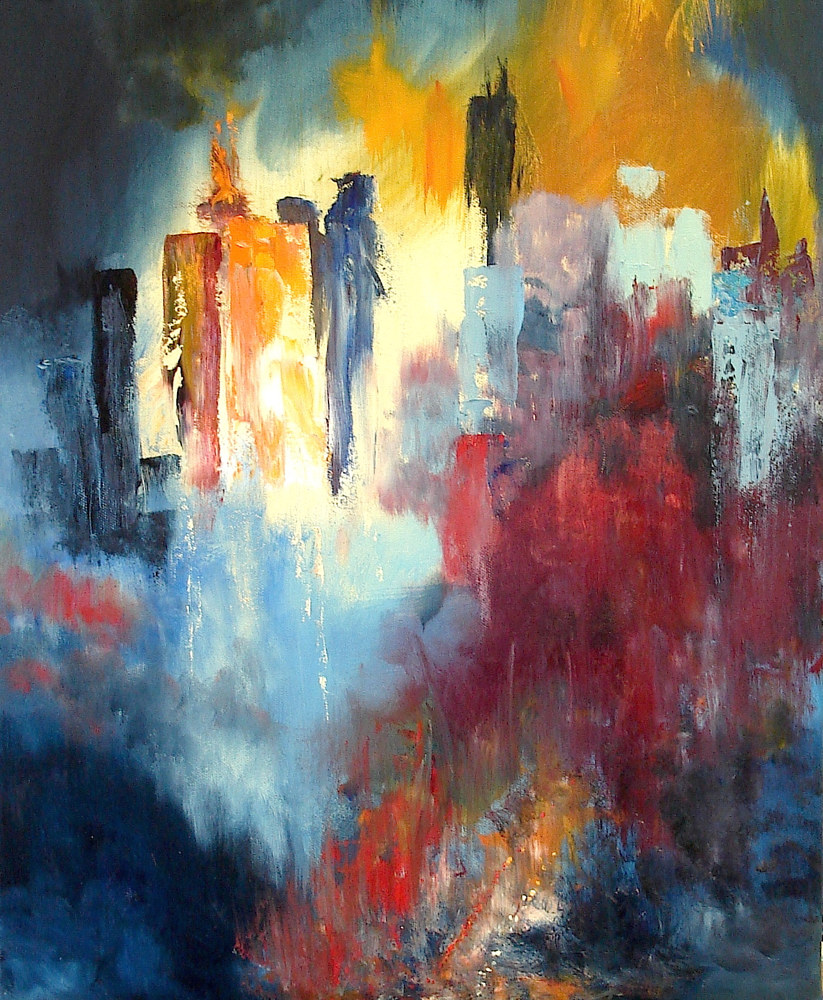 Oil painting Leaving Gotham by Jeanne Kollee