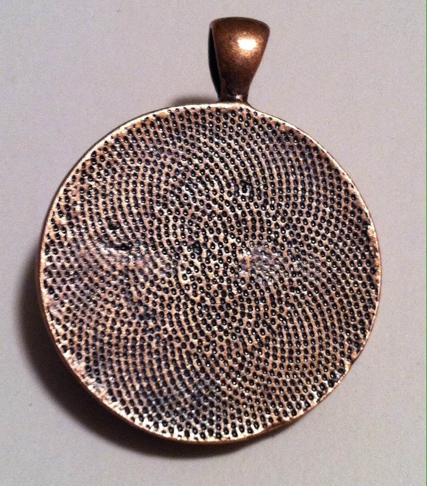 Back of Copper Bezel Pendant by Isaac Carpenter