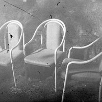 """the three chairs"" by Kyla Slobodin"