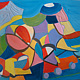 Oil painting Toys, abstraction oil by Gwenda Branjerdporn