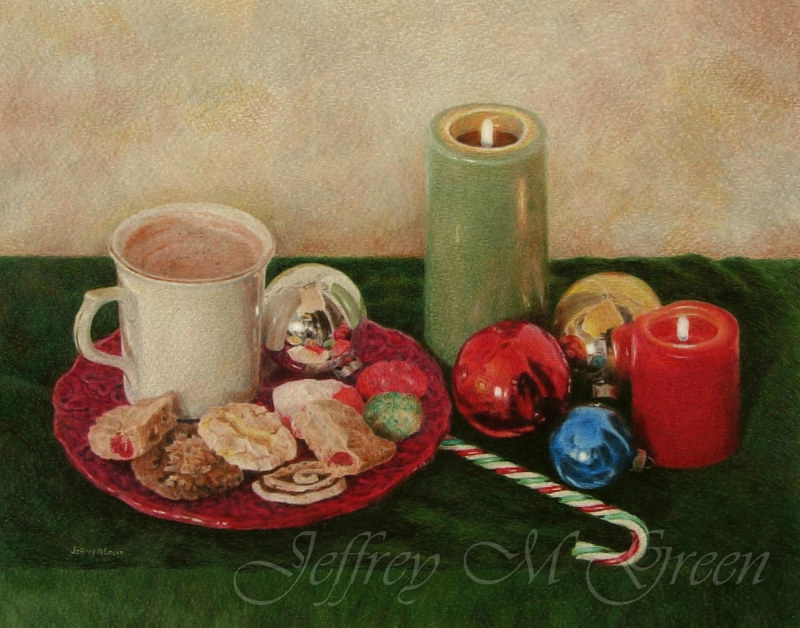 "© Jeffrey M Green. ""Mom's cookies"", 11x14"", colored pencils. by Jeffrey Green"