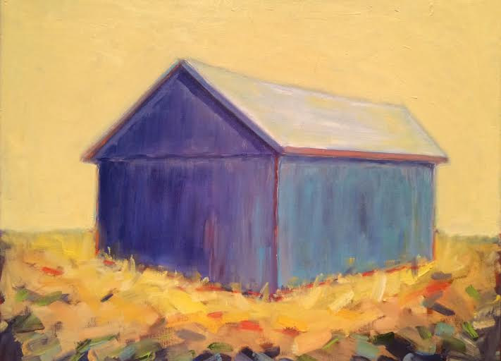 Oil painting Purple Barn- SOLD by Sarah Trundle