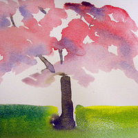Watercolor A Tree Grows in Washington by Edith dora Rey