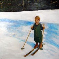 David's First Skis, 2008 by Edith dora Rey