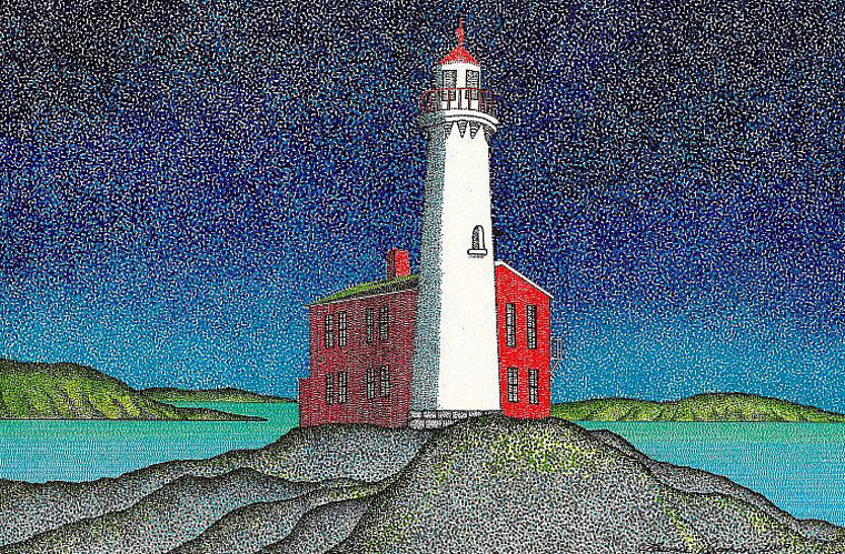 Print Fisgard Lighthouse  by Lawrie  Dignan