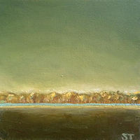Oil painting Green Skies- SOLD by Sarah Trundle