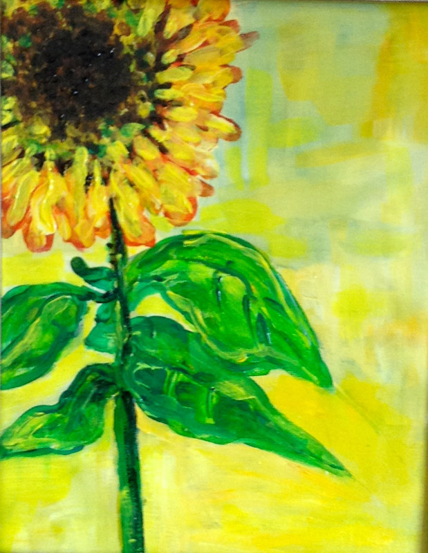 Acrylic painting Hello Sunshine! by Karen Brodeur