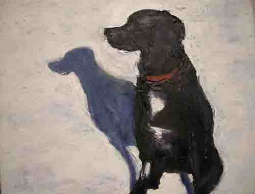 Oil painting Angus by Edith dora Rey