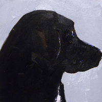 Oil painting Angus McDoogle by Edith dora Rey