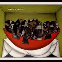 Mixed-media artwork STRANGE FRUITS - 2013 by Michael Kilgore