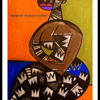 Mixed-media artwork BASQUIAT PICASSO WOMAN - 2012 by Michael Kilgore
