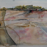 Watercolor Farmed Land 2 by Steve Latimer