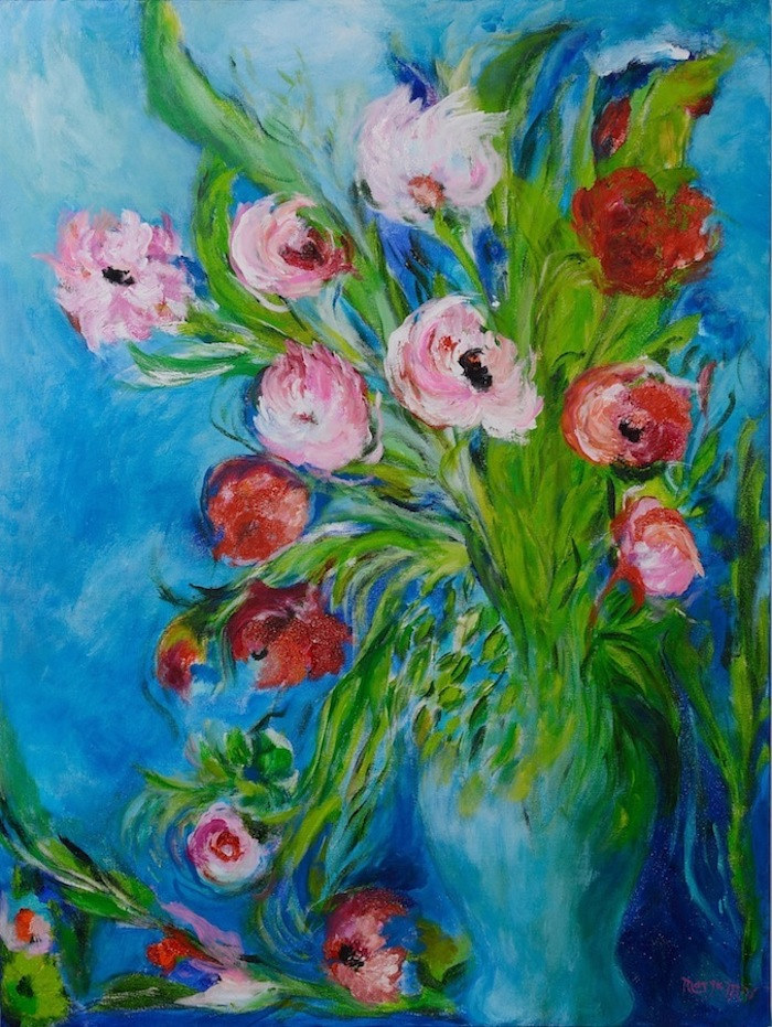 Acrylic painting Eternal  Flowers   by Maryam Vancouver