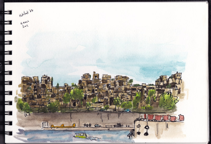 Drawing Habitat '67 by Graham Hall