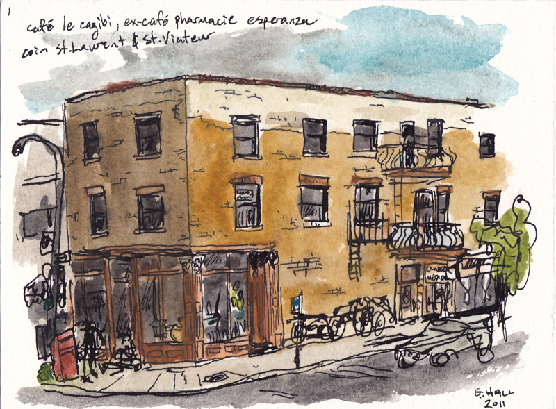 Drawing St. Laurent and St. Viateur by Graham Hall