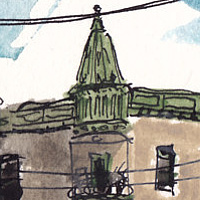 Drawing St. Viateur and Waverly by Graham Hall