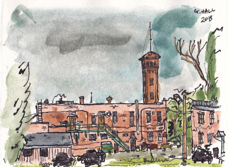 Drawing Outremont by Graham Hall