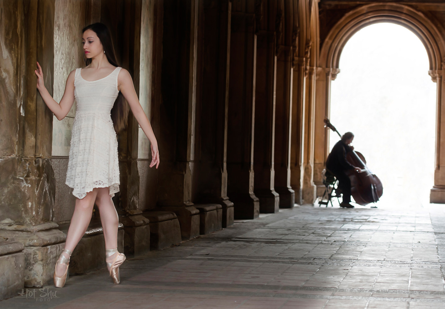 Sarah - ballerina Dancing with the Philadelphia Ballet by Doug Berry