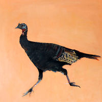 Oil painting Jewett's General Store Wild Turkey, 2015 by Edith dora Rey