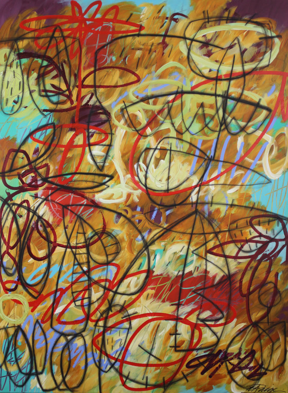 Acrylic painting Addison Paige #124 A Hectic Pace With Loud Noise by ADDISON PAIGE