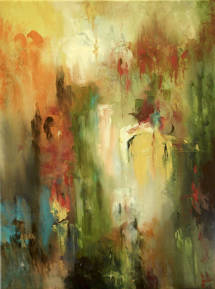 Oil painting Ascension by Jeanne Kollee