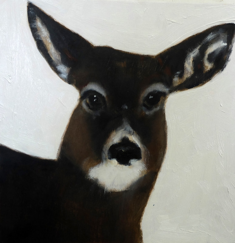Oil painting Highwater Deer II, 2015 by Edith dora Rey