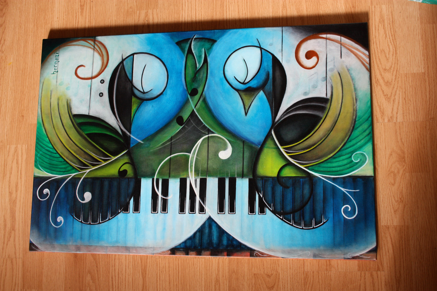 Acrylic painting The Geometry of Art, Music, and Life by Bruno Hernani