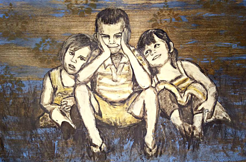 Oil painting Lil Lingenfelters by Carly Jaye Smith