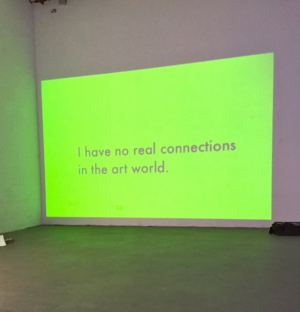 I have no real connections in the art world.  by Jaye Early