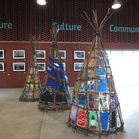 Painting PROJECT: Tipi Teaching - Wisdom, Weaving and Stories 1 by Pamela Schuller