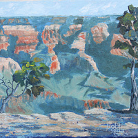 Oil painting Canyon Wakeup by Bob Spille