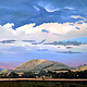 Oil painting Gundagai hills  by Jodi Jansons