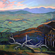 Oil painting Kinglake-the top of the hill by Jodi Jansons