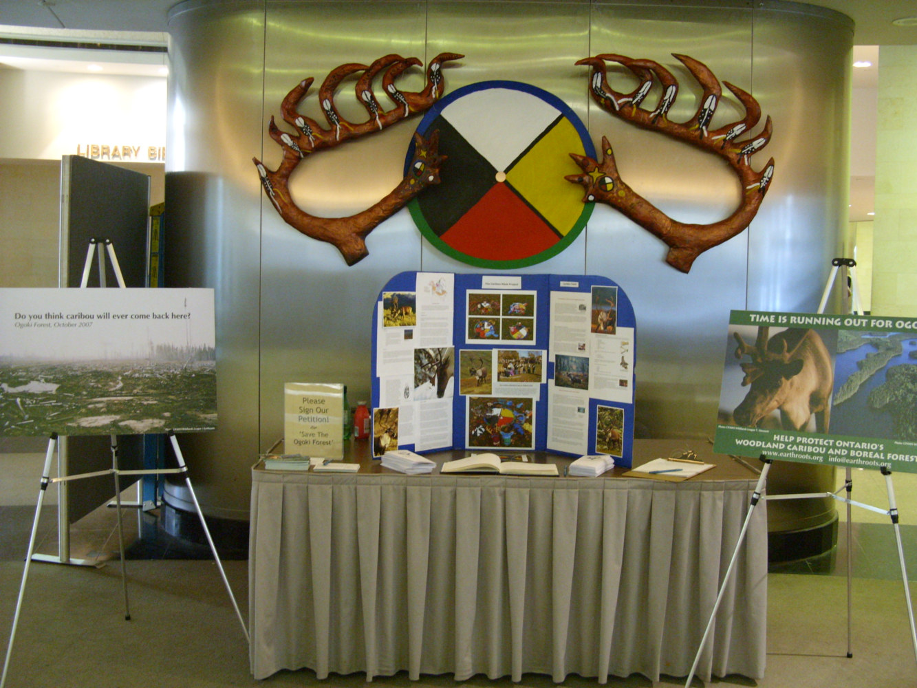 Run with the Caribou Project - Exhibit - Metro Hall by Pamela Schuller