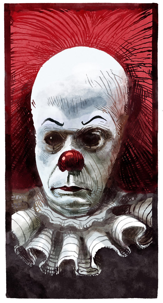 Drawing Pennywise by Hendrik Gericke
