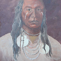 Acrylic painting Chief Red Wing by Bob Spille