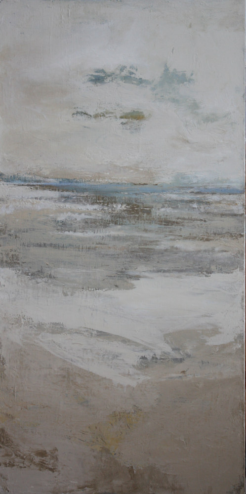 Oil painting Winter Along the Coast by Nella Lush