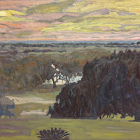 Oil painting Evening over the Bayou by Edward Miller