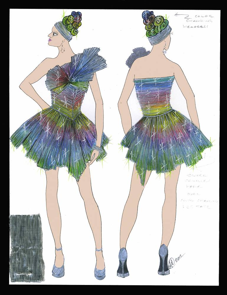 Chameleon cocktail dress by Angela Dale
