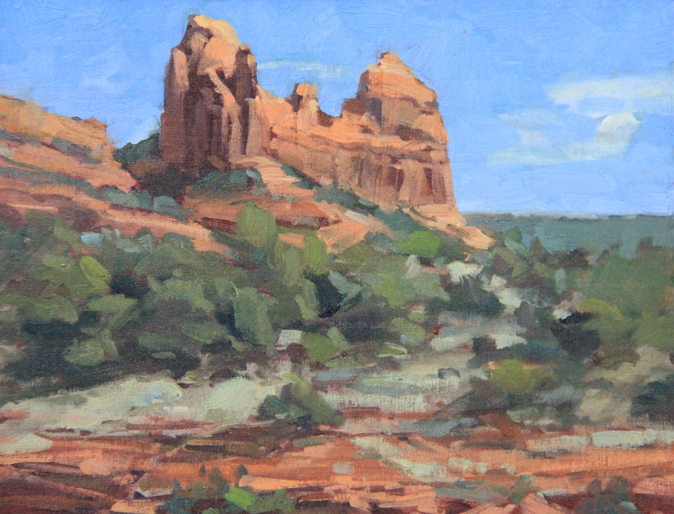 Painting Sedona Plein Air I by Susette Gertsch