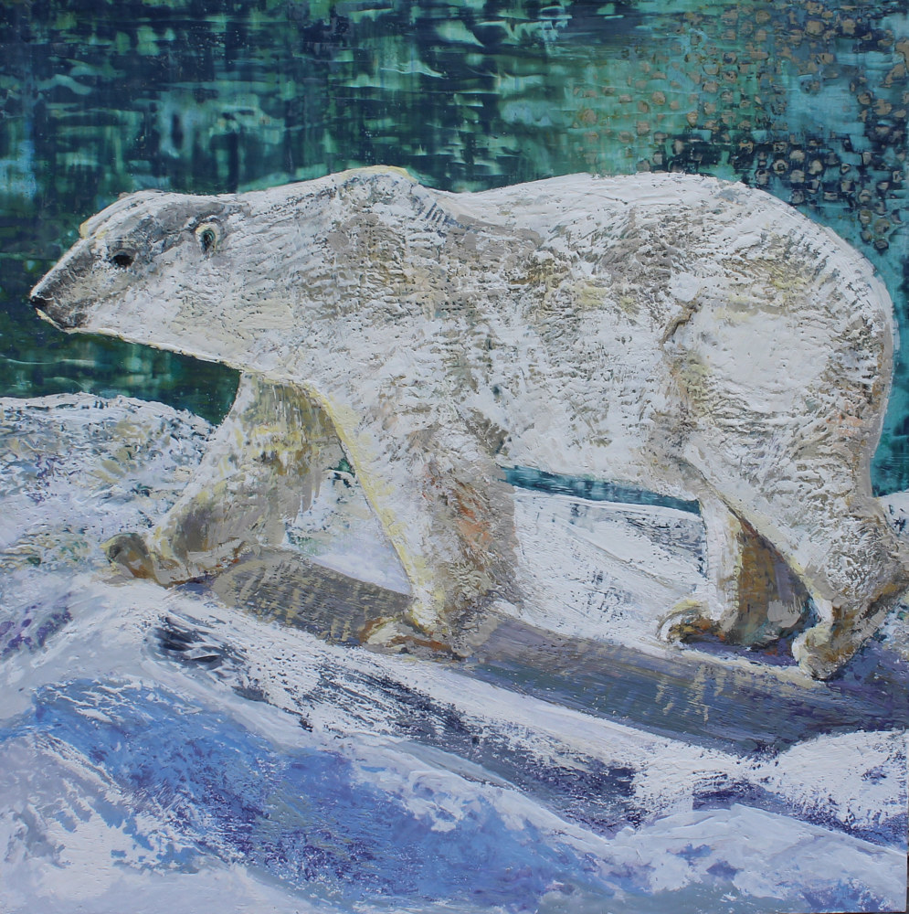 Oil painting Polar Bear by Lisa Printz