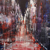 Acrylic painting Street With No Name by David Tycho
