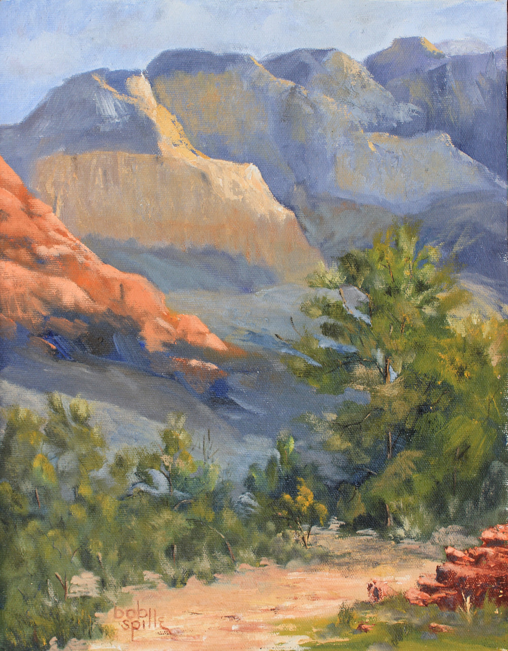 Oil painting October in Sedona by Bob Spille