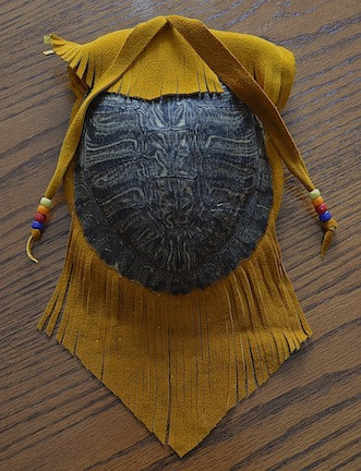 Turtle Shell Medicine Pouch by Clayton King