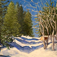 Oil painting Bluebird Day- SOLD by Sarah Trundle
