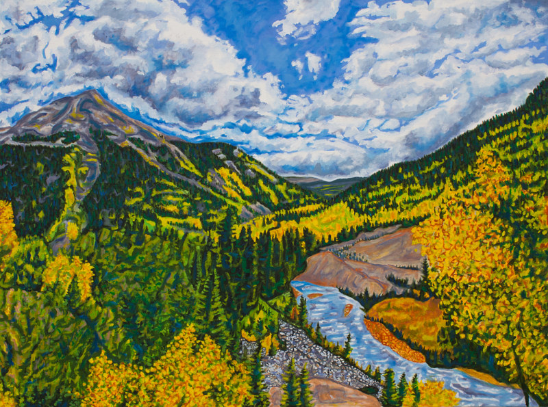 Oil painting Fall In the San Juans by Crystal Dipietro