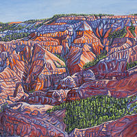 Oil painting Early Morn at Cedar Breaks by Crystal Dipietro