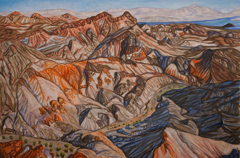 Oil painting Boulder Wash #2 by Crystal Dipietro
