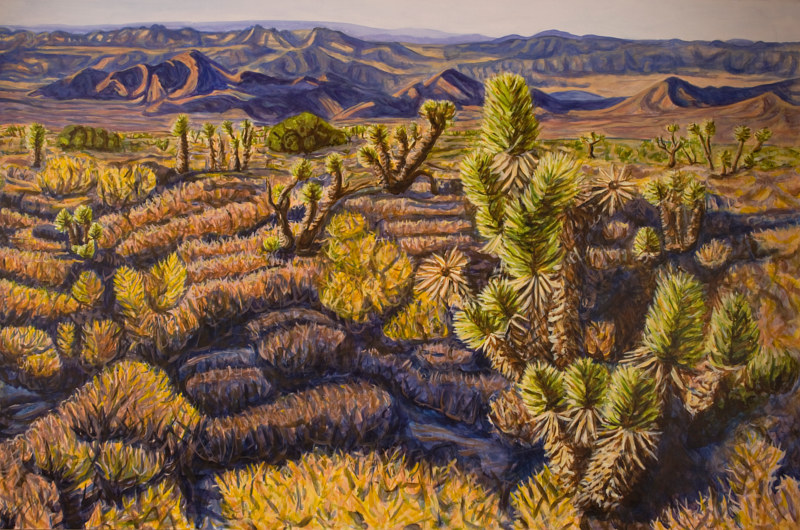 Acrylic painting Mojave Evening by Crystal Dipietro